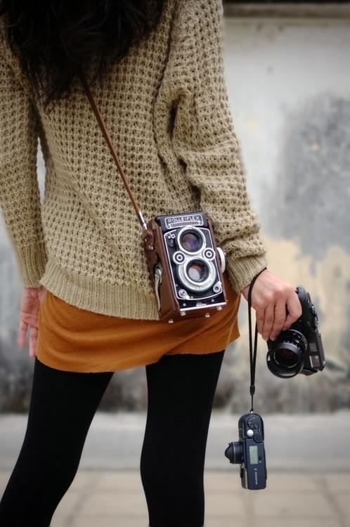Chica con Rolleiflex