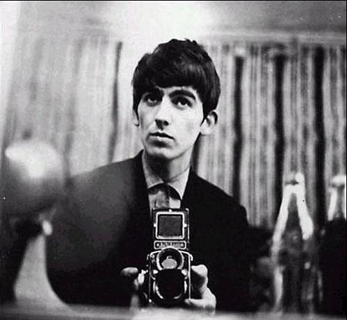George Harrison con Rolleiflex