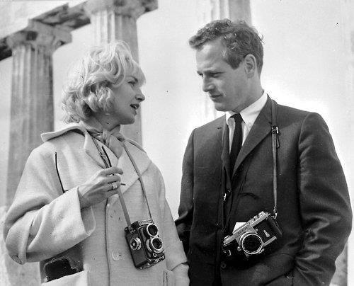Paul Newman y Joanne Woodward con Rolleiflex