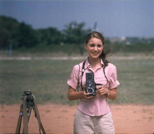 Natalie Portman con Rolleiflex