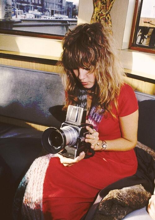 Steve Nicks, cantante de Fleetwood Mac, con Hasselblad ELM