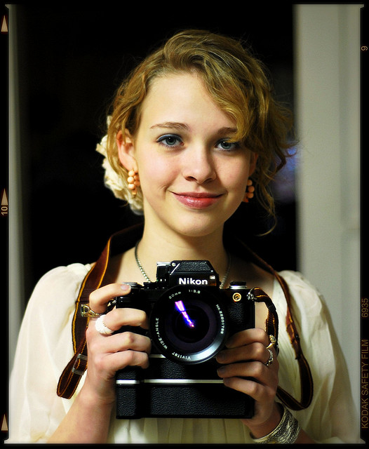 Young Woman with Nikon F2