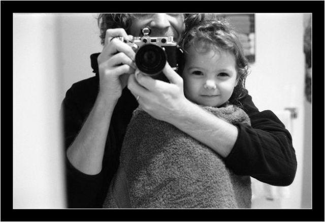 Autorretrato con Leica IIIf