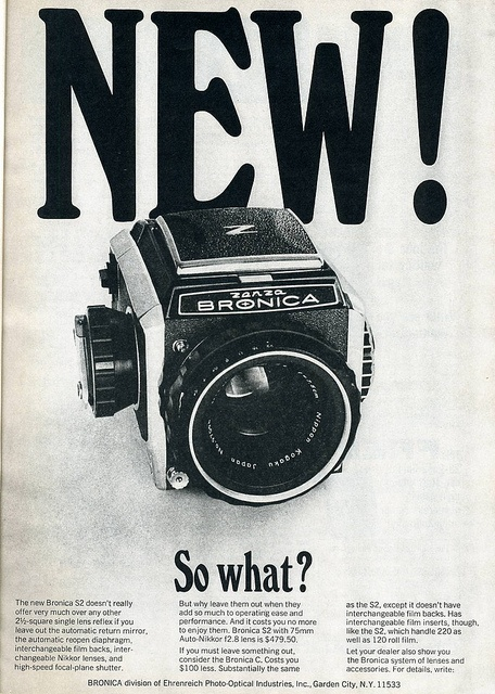 Bronica S2 1966 Advertising 1