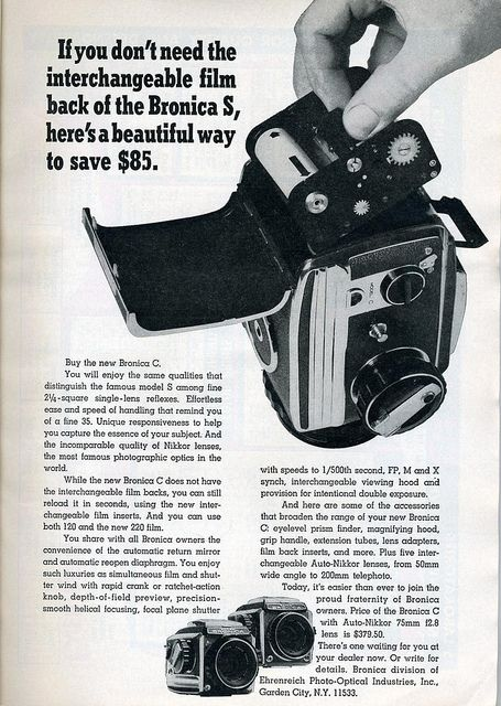 Bronica S2 1966 Advertising 2