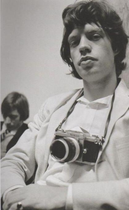 Mick Jagger con Nikon F