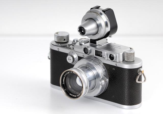 Leica con Summar y visor lateral
